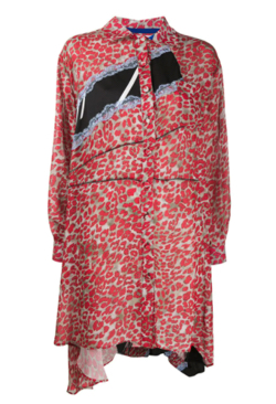 Koché leopard shirt dress