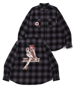 XLARGE PATCHED CHECK SHIRT