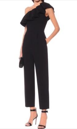 MSGM one-shoulder ruffle-detail jumpsuit