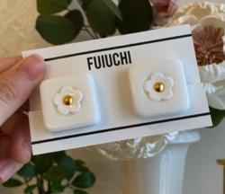 FUIUCHI スクエアフラワーピアス