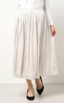 TONAL ブライトサテンギャザースカート