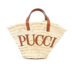 EMILIO PUCCI ロゴパッチ ビーチバッグ