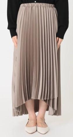 Spick & Span サテンラッププリーツスカート