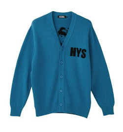 HYSTERIC GLAMOUR I LOVE 84編込 カーディガン