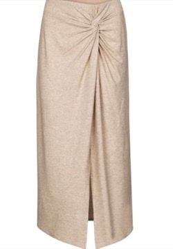 vince(ヴィンス) High-rise jersey midi skirt Beige