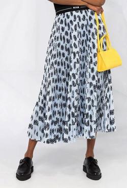MSGM グラフィックプリーツスカート