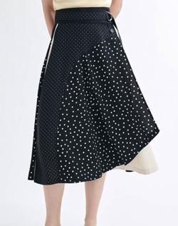 LANVIN en Bleu パターンMIXスカート