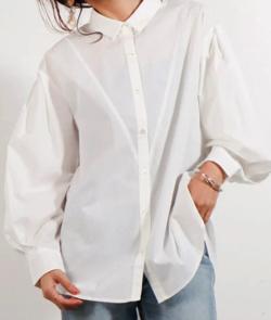 LADYMADE バックオープンラウンドスリーブシャツ