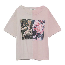 FURFUR ハーフデザインプリントTシャツ