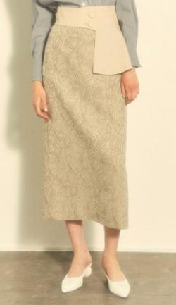 LADYMADE Paisley Jacquard ベルトセットタイトスカート