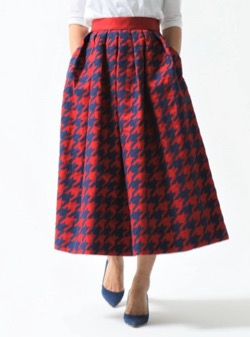 SHE Tokyo Anna houndstooth red/navy
