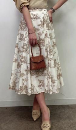 eimy istoire Hailey pattern ボリュームフレアースカート