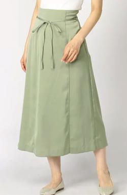 Andemui サテンマーメイドスカート