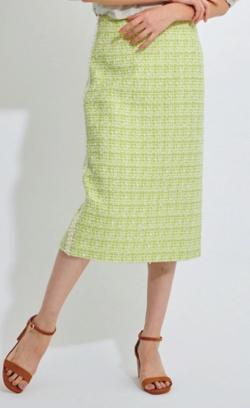 LOUNIE ファンシーツイードタイトスカート