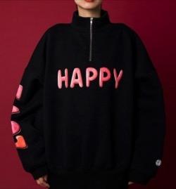 LittleSunnyBite HAPPY LOVE zip sweat top