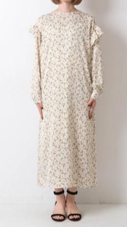 Spick & Span フラワープリントフリル ドレス
