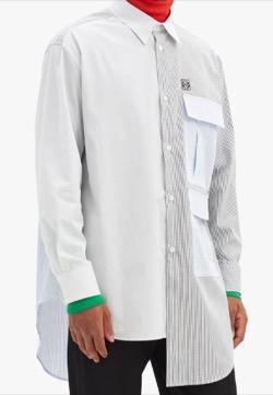 LOEWE(ロエベ)  アナグラム チェック コットンシャツ
