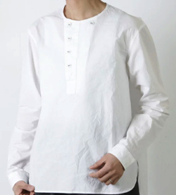 GARMENT REPRODUCTION OF WORKERS NEW HENRY NECK SHIRTS