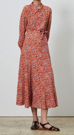 COMPTOIR DES COTONNIERS ビスコースクレープガーデンプリントシャツドレス