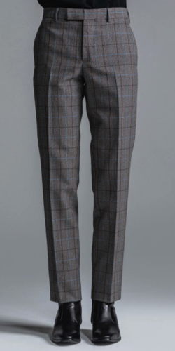 LITHIUM CHECK TROUSERS -STRAIGHT