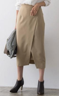 Pierrot ラップスリットタイトスカート