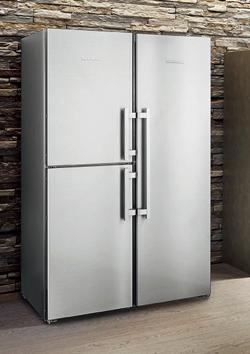 LIEBHERR ステンレス大型冷蔵庫 SBSes8484 3ドア