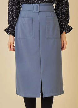 tocco closet ベルト付きポケットタイトスカート