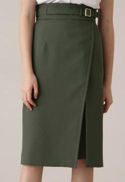 PINKY&DIANNE ベルトデザインタイトスカート