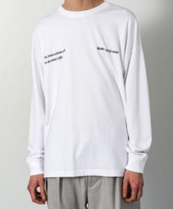 SLICK ドロップショルダープリントTシャツ