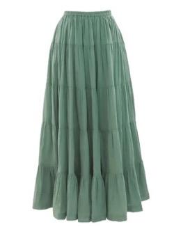 KOBE LETTUCE(コウベレタス)インド綿ティアードスカート