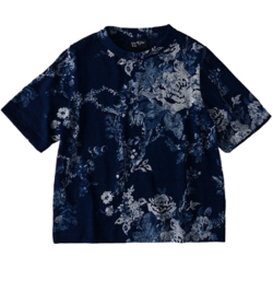 45R ギマニットのフラワープリント四角Tシャツ