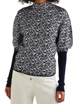 Chloe シルクフローラルジャカード セーター