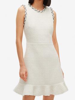kate spade new york メインライン フローラ ツイード ドレス