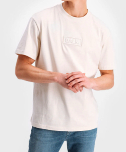 BALR. CLUB EMBRO BOX FIT T-SHIRT WHITE SWAN