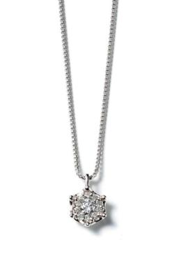 BLOOM プラチナ ダイヤモンド ネックレス