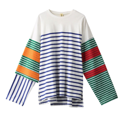 nagonstans CO Border Long Sleeve Tシャツ