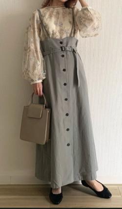 mysty woman サス付きマエボタンナロースカート