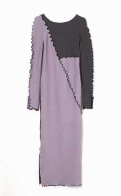 AULA AILA RIB MELLOW LAYERED DRESS