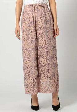 MEW'S REFINED CLOTHES レースワイドパンツ