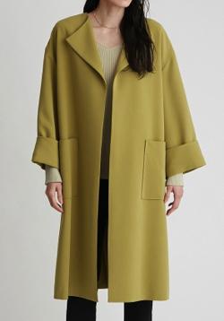 Mila Owen ラペルカラーボックス袖コート