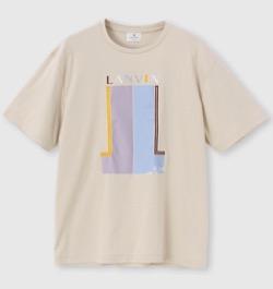 LANVIN en Bleu ダブルJL ロゴプリントTシャツ