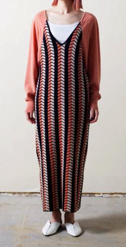RELDI HERRINGBONE KNIT DRESS