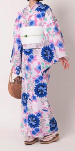 三松オリジナル浴衣「百花(ひゃっか)」(ラベンダー)