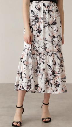 Pinky&Dianne カットジャカードフラワープリントスカート