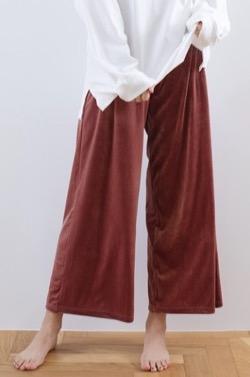 REVEYU Velour room pants