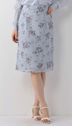 MISCH MASCH 花柄レースタイトスカート