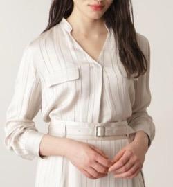 PINKY&DIANNE カラミストライプシャツ