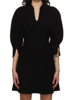 MAME KUROGOUCHI Volume Sleeve V-Neck ドレス