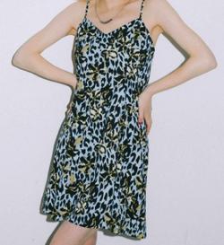 X-girl FLORAL LEOPARD ALOHA CAMISOLE DRESS