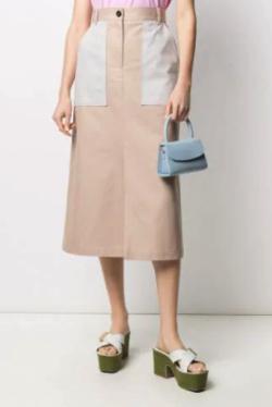 MSGM バイカラー スカート